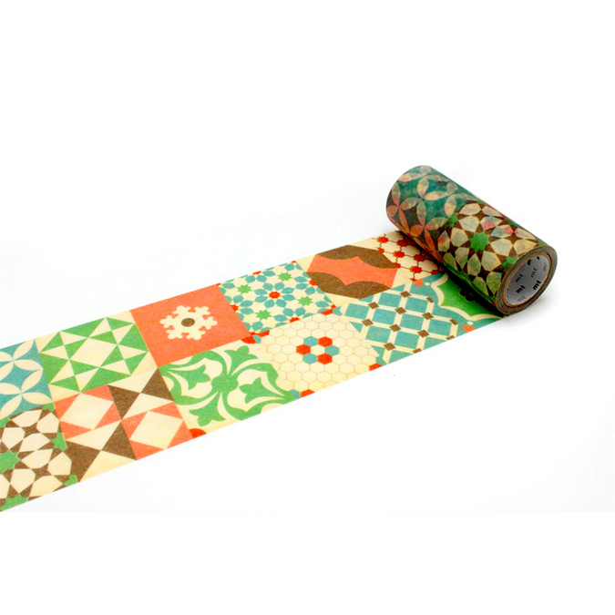 Ruban décoratif adhésif largeur 10 cm - Carreaux patchwork