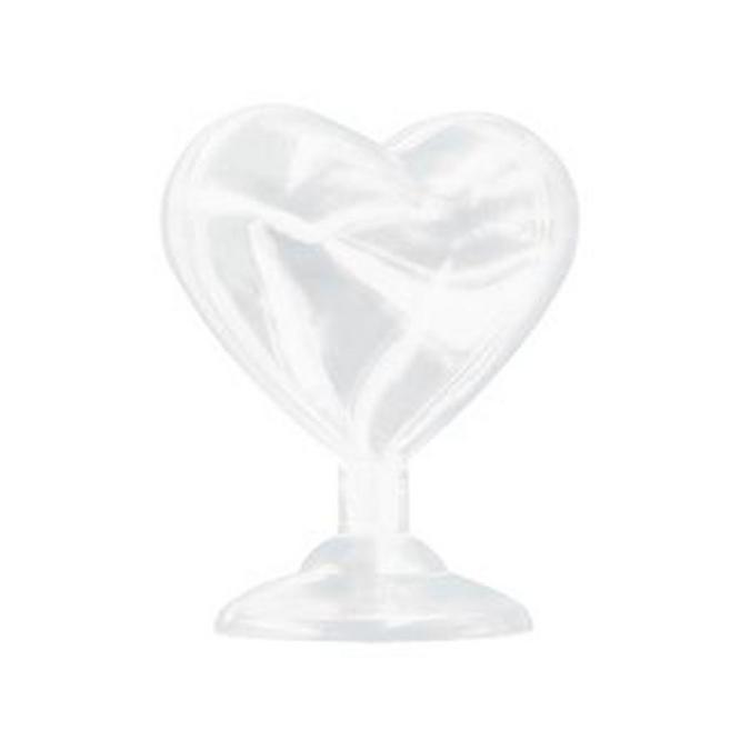 Cœur cristal sur pied 6 x 5 x 3 cm