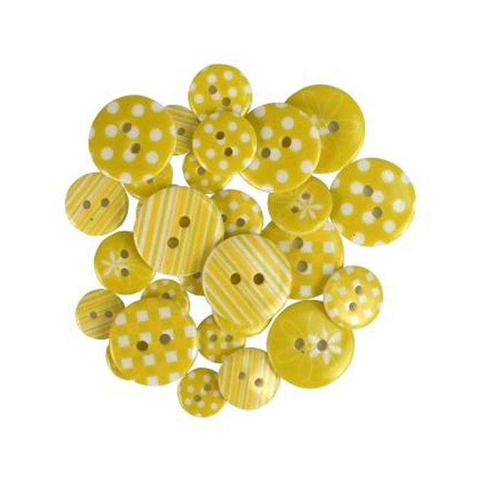 Bouton en acrylique camaïeu de jaune par 28