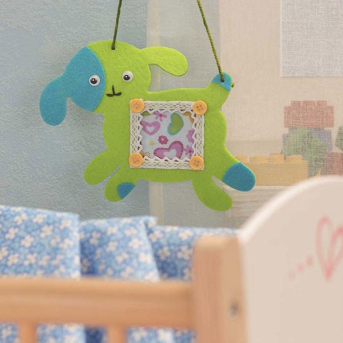 Kit créatif textile - Cadre chien