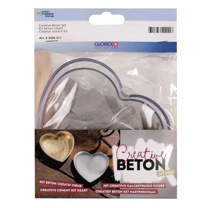 Béton créatif - Kit cœur