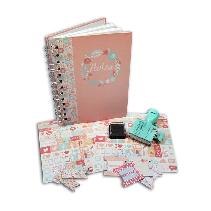 Papeterie - Kit carnet Ma jolie papeterie fleurie