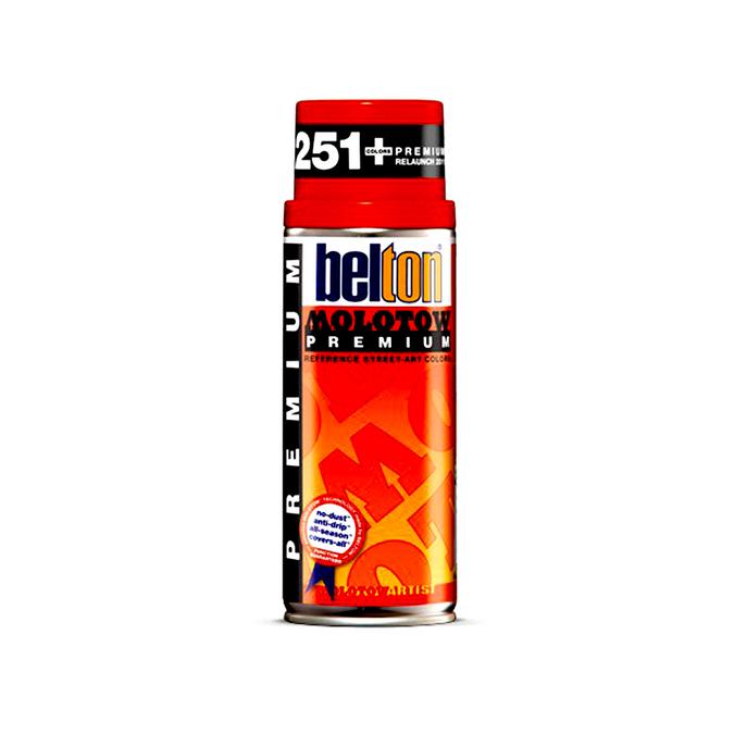 Bombe de peinture acrylique Belton Premium 400 ml 004 - Jaune signal