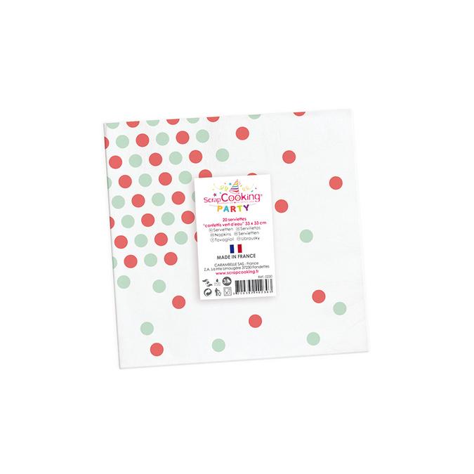 Serviette en papier motif confettis par 20