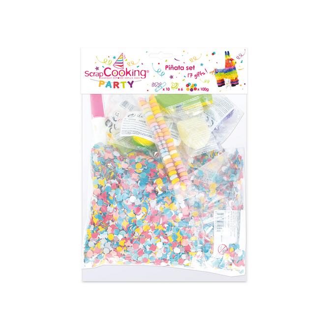 Pinata lot de bonbons + jouets - 16 pièces