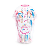 Bonbons Candy cannes multicolore par 8