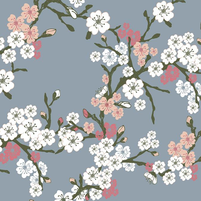 Tissu 50 x 70 cm Fleur de cerisier