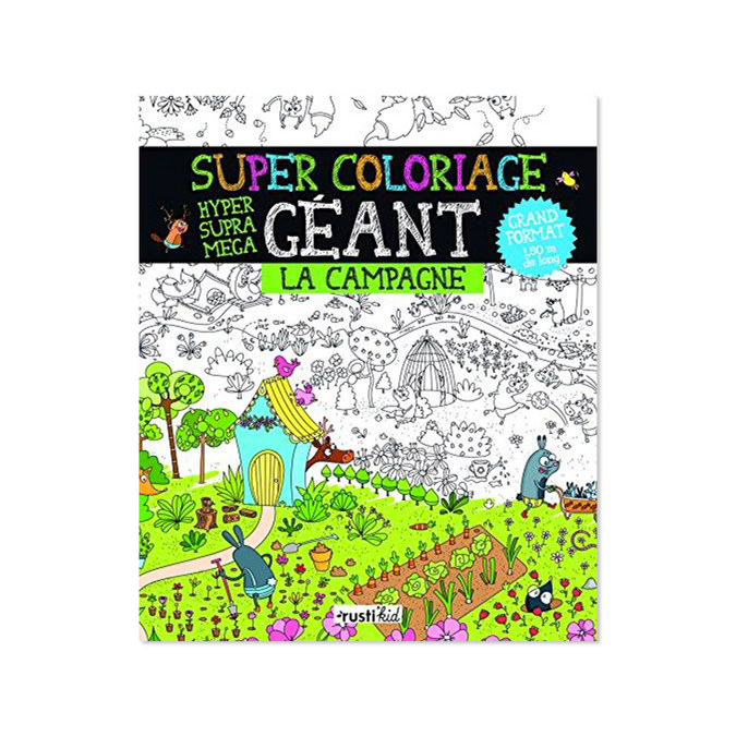 Livre Super coloriage géant : la campagne