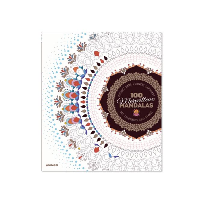 Livre 100 merveilleux Mandalas
