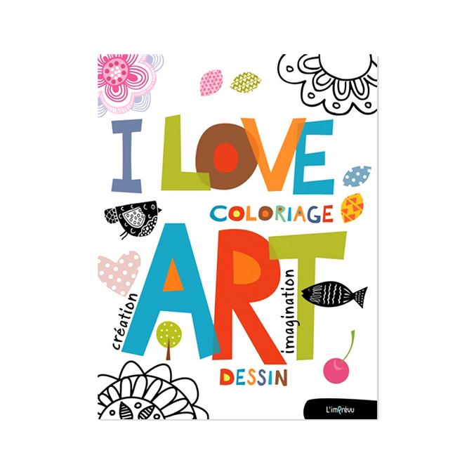 Livre I love art Coloriage, création, dessin