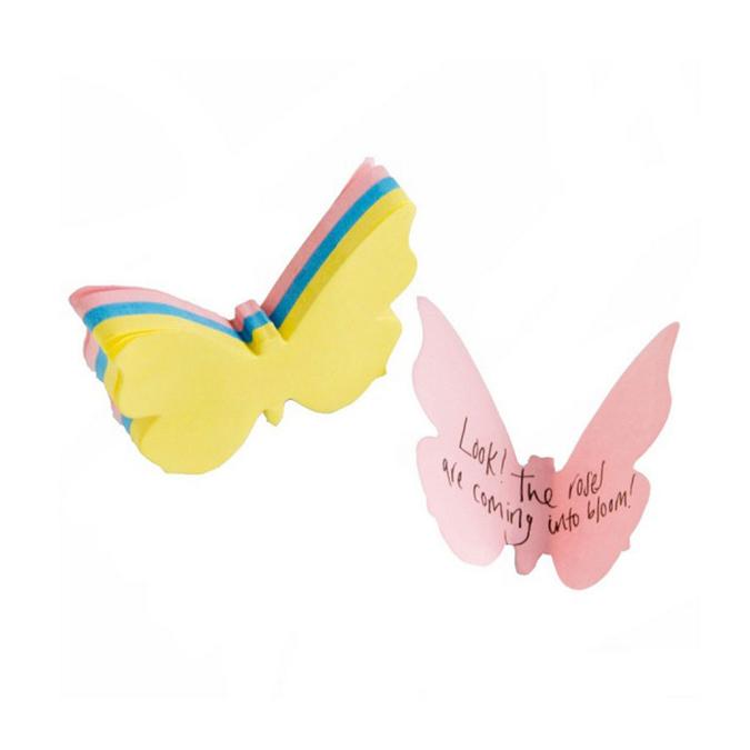 Note adhésive papillon - 6,5 cm