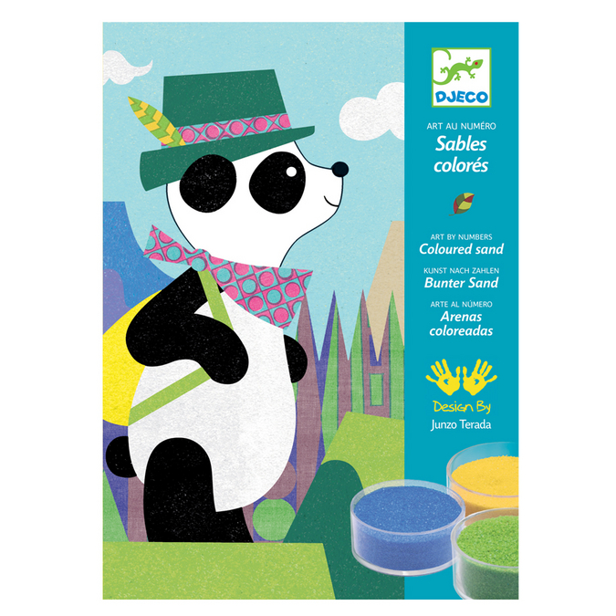 Sables colorés thème Panda et ses copains
