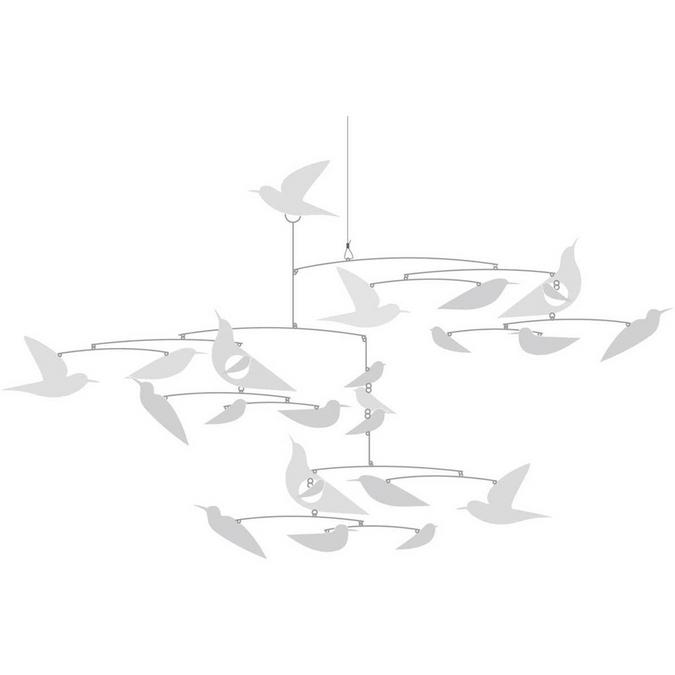 Mobile - Oiseaux blancs