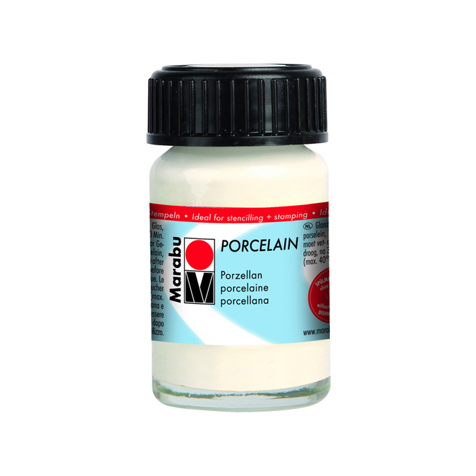 Peinture pour porcelaine Porcelain 15 ml 070 - Blanc