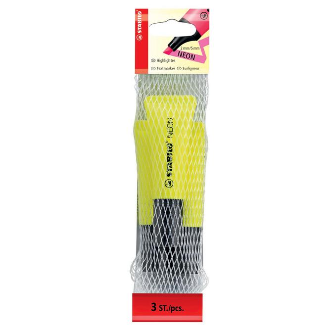 Surligneur Neon jaune par 3