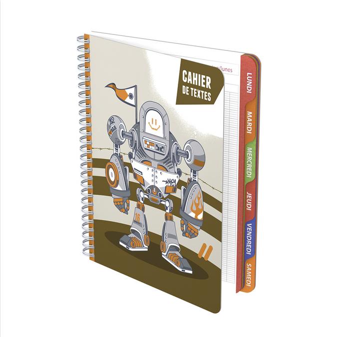 Cahier de textes Robots 17 x 22 cm