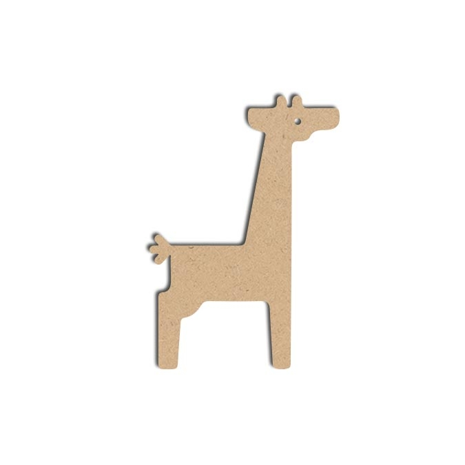 Forme Girafe - Objet en médium 14 x 10 cm