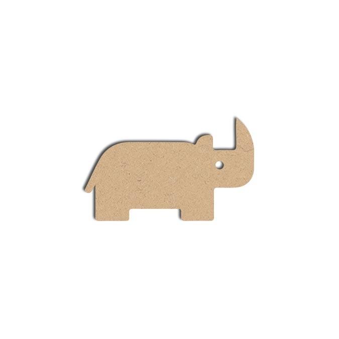 Forme Rhino - Objet en médium 7 x 12 cm