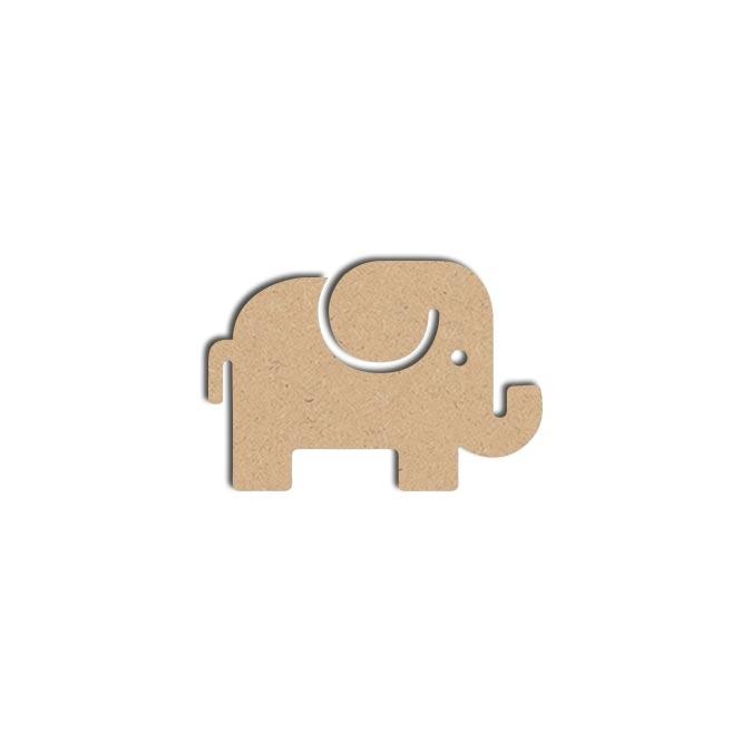 Forme Éléphant - Objet en médium 7 x 11 cm