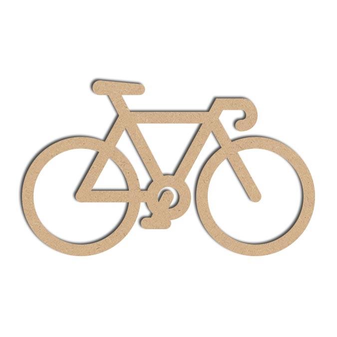 Forme Vélo - Objet en médium 13 x 20 cm