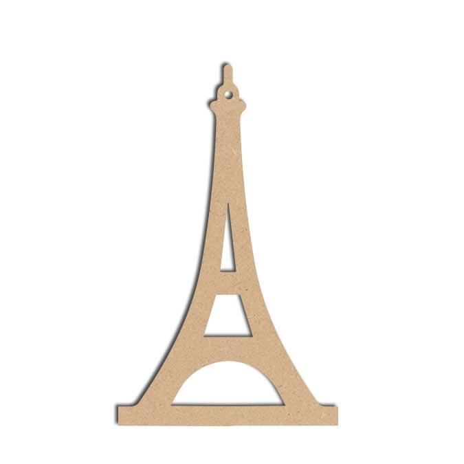 Forme Tour Eiffel - Objet en médium 20 x 13 cm