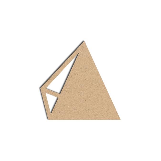 Forme Cadre Triangle - Objet en médium 12 x 12 cm
