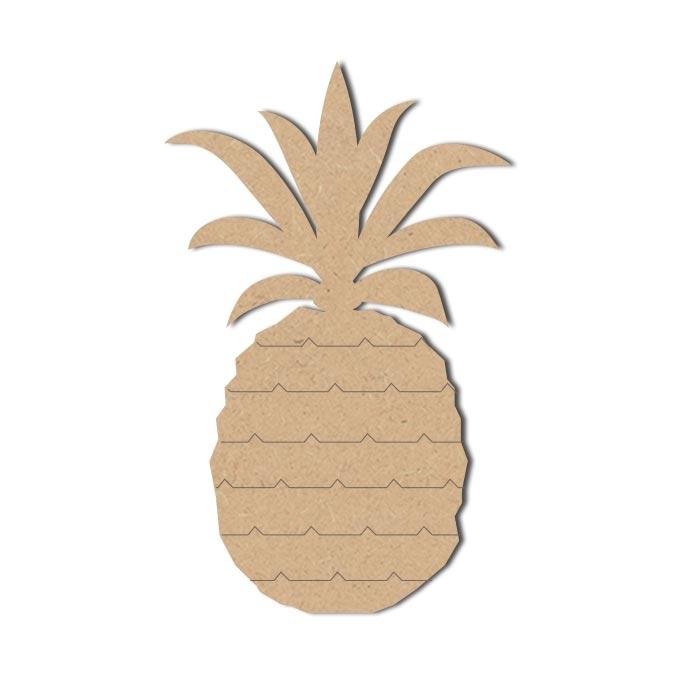 Forme Ananas - Objet en médium 20 x 13 cm