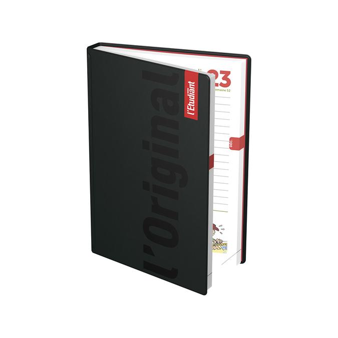 Agenda journalier 15 x 20 cm L'Étudiant couverture noire 19-20