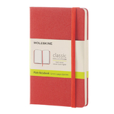 Carnet grand format pages blanches corail 13 x 21 cm