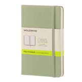 Carnet grand format pages blanches sauge 13 x 21 cm