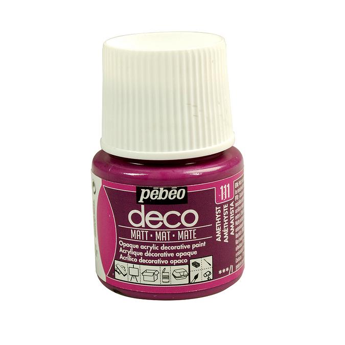 Peinture acrylique P.BO deco mate 45ml 58 - Rose vif