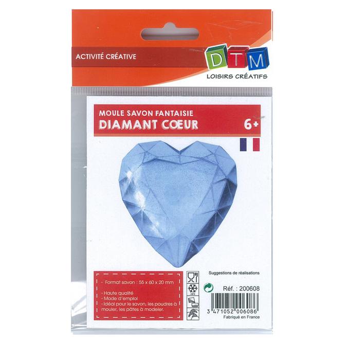 Moule pour savon diamant cœur