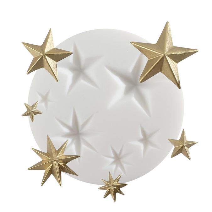 Moule en silicone thème étoile