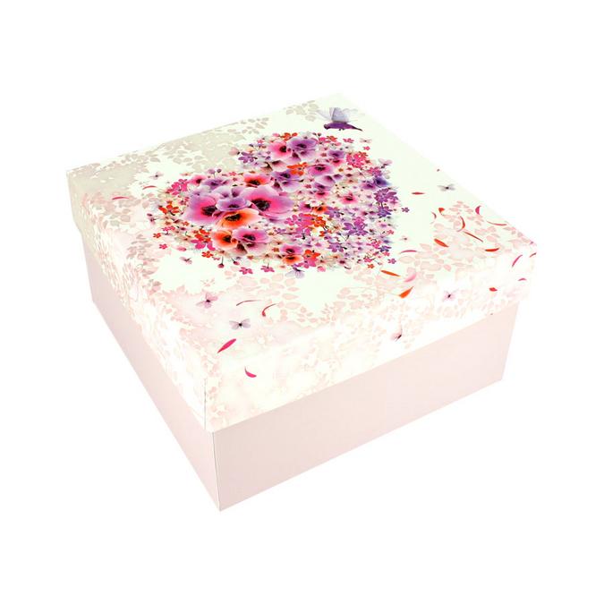 Boîte carrée Charlène Mullen 16 x 16 x 11 cm