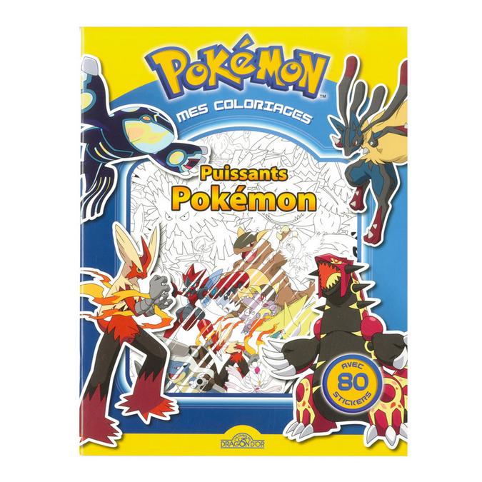 Livre de coloriage Puissants Pokémon