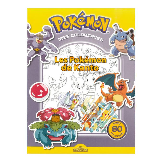 Livre de coloriage Les Pokémon de Kanto