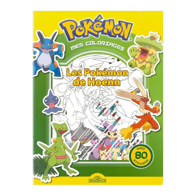 Livre de coloriage Les Pokémon de Hoenn