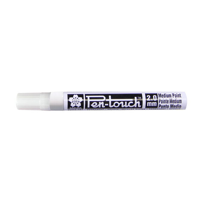 Marqueur Pen-Touch 2 mm blanc