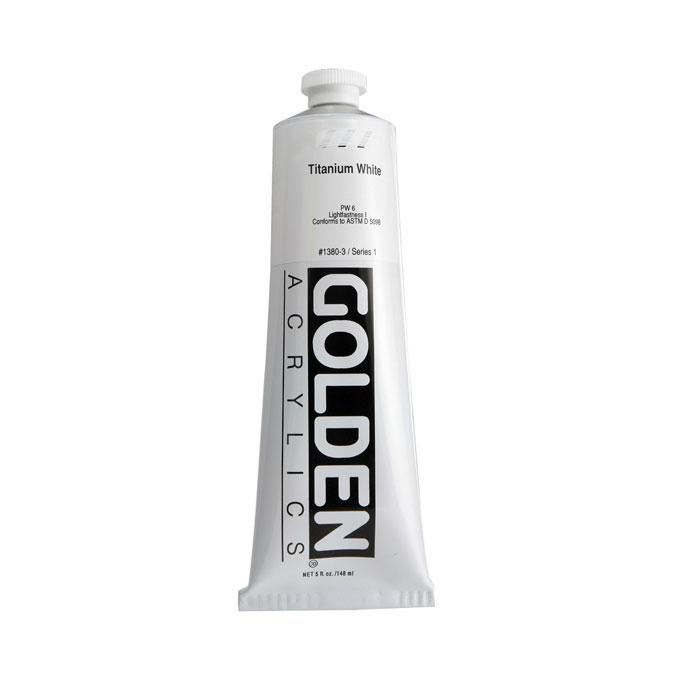 Peinture acrylique extra-fine blanc de titane 150 ml