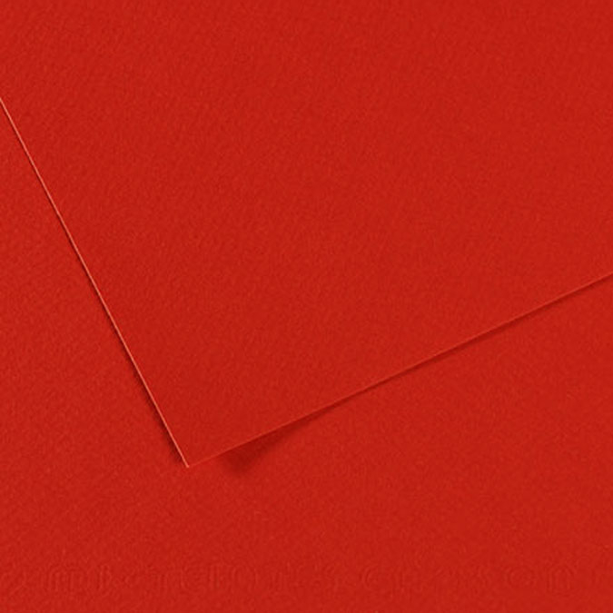 Papier Mi-Teintes 160g 55 x 75cm fin de série 506 - Coquelicot