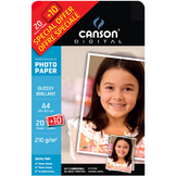 Papier photo brillant Performance A4 - 210 g/m² - 20 + 10 feuilles