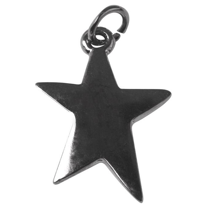 Pendentif argenté vieilli étoile L. 22 mm
