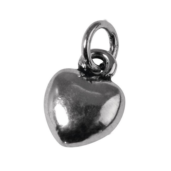 Pendentif argenté vieilli cœur PM L. 10 mm