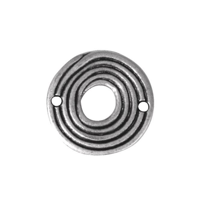Perle intercalaire rondelle argenté vieilli Ø 26 mm