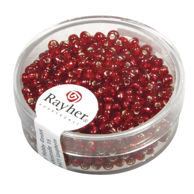 Perles de rocaille 2,6 mm garniture argent