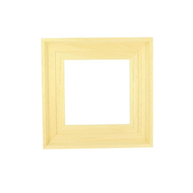 Caisse américaine brute format carré