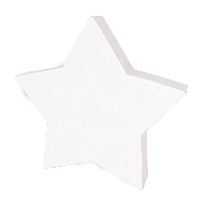 Etoile pleine en papier mâché 20,5 cm