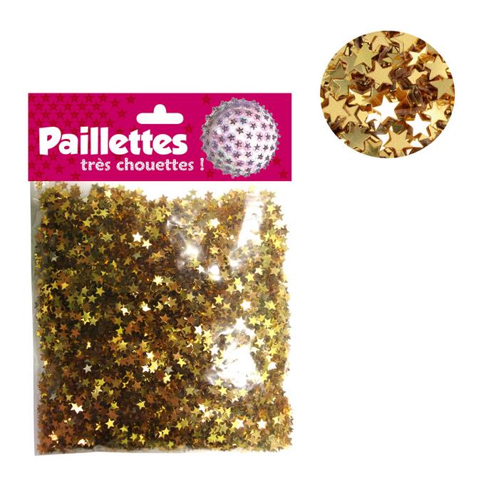 Paillettes étoiles or 50g