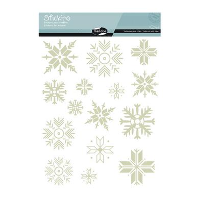 stickers fen tre no l flocons maildor chez rougier pl. Black Bedroom Furniture Sets. Home Design Ideas