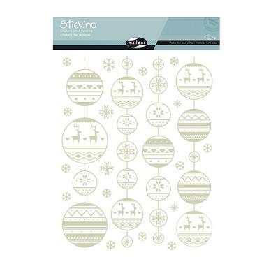 stickers fen tre no l guirlandes maildor chez rougier pl. Black Bedroom Furniture Sets. Home Design Ideas